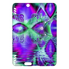 Violet Peacock Feathers, Abstract Crystal Mint Green Kindle Fire HDX 7  Hardshell Case