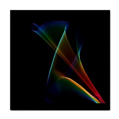 Abstract Rainbow Lily, Colorful Mystical Flower  Ceramic Tile