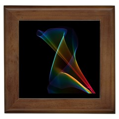 Abstract Rainbow Lily, Colorful Mystical Flower  Framed Ceramic Tile