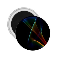 Abstract Rainbow Lily, Colorful Mystical Flower  2.25  Button Magnet