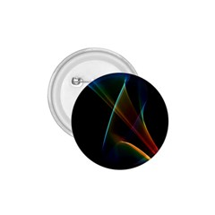 Abstract Rainbow Lily, Colorful Mystical Flower  1.75  Button