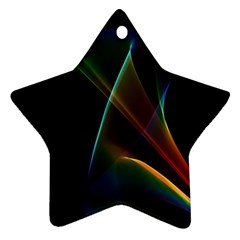 Abstract Rainbow Lily, Colorful Mystical Flower  Star Ornament