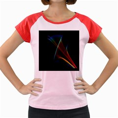 Abstract Rainbow Lily, Colorful Mystical Flower  Women s Cap Sleeve T-Shirt (Colored)