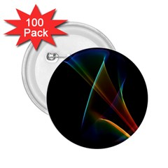 Abstract Rainbow Lily, Colorful Mystical Flower  2.25  Button (100 pack)