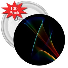 Abstract Rainbow Lily, Colorful Mystical Flower  3  Button (100 pack)