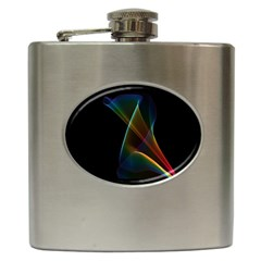 Abstract Rainbow Lily, Colorful Mystical Flower  Hip Flask