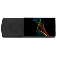 Abstract Rainbow Lily, Colorful Mystical Flower  2GB USB Flash Drive (Rectangle)