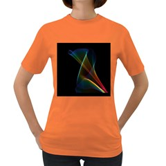 Abstract Rainbow Lily, Colorful Mystical Flower  Women s T-shirt (Colored)