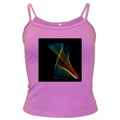 Abstract Rainbow Lily, Colorful Mystical Flower  Spaghetti Top (colored)