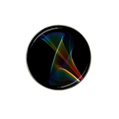 Abstract Rainbow Lily, Colorful Mystical Flower  Golf Ball Marker (for Hat Clip)