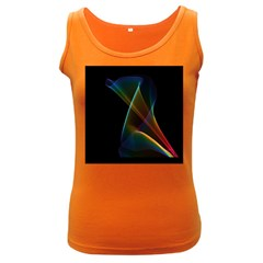 Abstract Rainbow Lily, Colorful Mystical Flower  Women s Tank Top (Dark Colored)