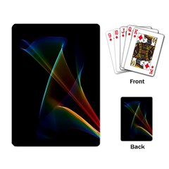 Abstract Rainbow Lily, Colorful Mystical Flower  Playing Cards Single Design