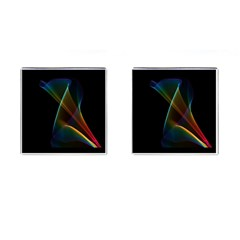 Abstract Rainbow Lily, Colorful Mystical Flower  Cufflinks (Square)