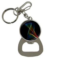 Abstract Rainbow Lily, Colorful Mystical Flower  Bottle Opener Key Chain