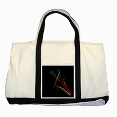 Abstract Rainbow Lily, Colorful Mystical Flower  Two Toned Tote Bag
