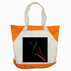Abstract Rainbow Lily, Colorful Mystical Flower  Accent Tote Bag