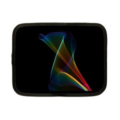Abstract Rainbow Lily, Colorful Mystical Flower  Netbook Sleeve (small)