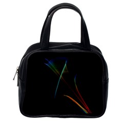 Abstract Rainbow Lily, Colorful Mystical Flower  Classic Handbag (One Side)