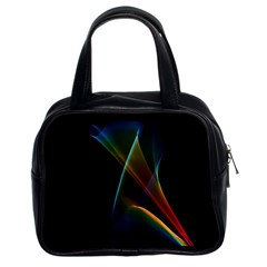 Abstract Rainbow Lily, Colorful Mystical Flower  Classic Handbag (two Sides)