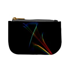 Abstract Rainbow Lily, Colorful Mystical Flower  Coin Change Purse