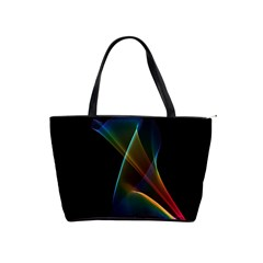 Abstract Rainbow Lily, Colorful Mystical Flower  Large Shoulder Bag