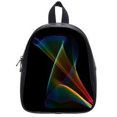 Abstract Rainbow Lily, Colorful Mystical Flower  School Bag (Small)