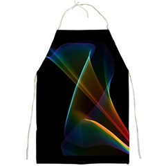 Abstract Rainbow Lily, Colorful Mystical Flower  Apron