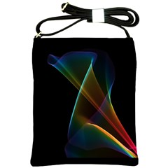 Abstract Rainbow Lily, Colorful Mystical Flower  Shoulder Sling Bag