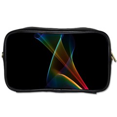 Abstract Rainbow Lily, Colorful Mystical Flower  Travel Toiletry Bag (two Sides)