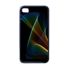 Abstract Rainbow Lily, Colorful Mystical Flower  Apple Iphone 4 Case (black)