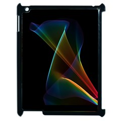 Abstract Rainbow Lily, Colorful Mystical Flower  Apple Ipad 2 Case (black)