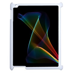 Abstract Rainbow Lily, Colorful Mystical Flower  Apple iPad 2 Case (White)
