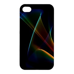 Abstract Rainbow Lily, Colorful Mystical Flower  Apple Iphone 4/4s Hardshell Case