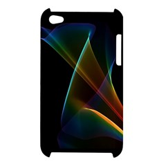 Abstract Rainbow Lily, Colorful Mystical Flower  Apple iPod Touch 4G Hardshell Case