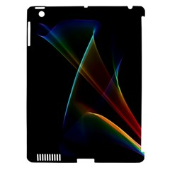 Abstract Rainbow Lily, Colorful Mystical Flower  Apple iPad 3/4 Hardshell Case (Compatible with Smart Cover)