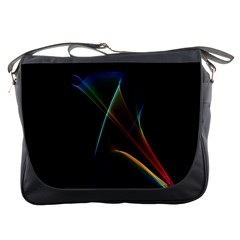 Abstract Rainbow Lily, Colorful Mystical Flower  Messenger Bag