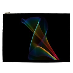 Abstract Rainbow Lily, Colorful Mystical Flower  Cosmetic Bag (xxl)