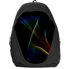 Abstract Rainbow Lily, Colorful Mystical Flower  Backpack Bag