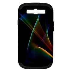 Abstract Rainbow Lily, Colorful Mystical Flower  Samsung Galaxy S Iii Hardshell Case (pc+silicone)