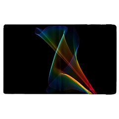 Abstract Rainbow Lily, Colorful Mystical Flower  Apple iPad 2 Flip Case