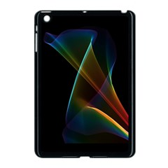 Abstract Rainbow Lily, Colorful Mystical Flower  Apple iPad Mini Case (Black)