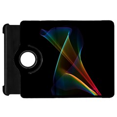 Abstract Rainbow Lily, Colorful Mystical Flower  Kindle Fire HD 7  (1st Gen) Flip 360 Case