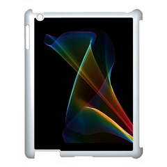 Abstract Rainbow Lily, Colorful Mystical Flower  Apple Ipad 3/4 Case (white)