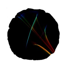 Abstract Rainbow Lily, Colorful Mystical Flower  15  Premium Round Cushion