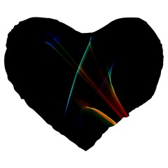 Abstract Rainbow Lily, Colorful Mystical Flower  19  Premium Heart Shape Cushion
