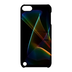 Abstract Rainbow Lily, Colorful Mystical Flower  Apple Ipod Touch 5 Hardshell Case With Stand