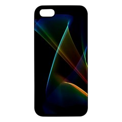 Abstract Rainbow Lily, Colorful Mystical Flower  Apple iPhone 5 Premium Hardshell Case