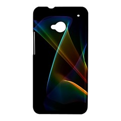 Abstract Rainbow Lily, Colorful Mystical Flower  HTC One Hardshell Case
