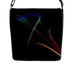 Abstract Rainbow Lily, Colorful Mystical Flower  Flap Closure Messenger Bag (Large)