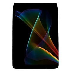 Abstract Rainbow Lily, Colorful Mystical Flower  Removable Flap Cover (Large)